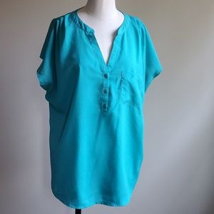 New York & Company turquoise top